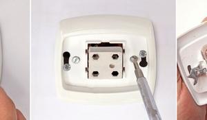 KROK I - Demontaż starego włącznika światła